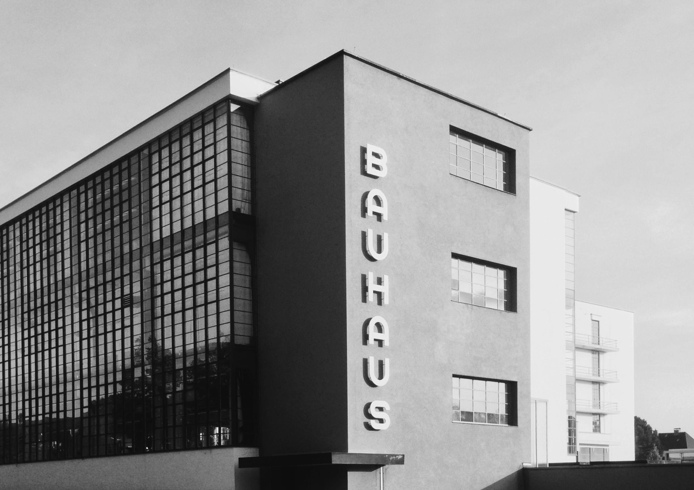 Bauhaus building in Dessau by architect Walter Gropius. Photographer: Glenn Garriock.